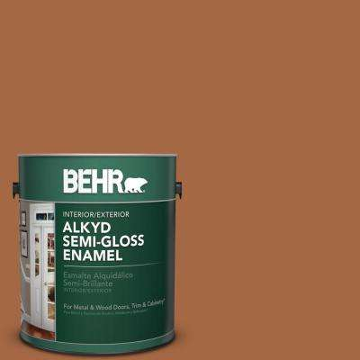 1 gal. #PPU3-16 Maple Glaze Semi-Gloss Enamel Alkyd Interior/Exterior Paint