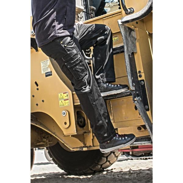 Caterpillar Operator Flex Men S 34 In W X 36 In L Black Cotton Polyester Spandex Stretch Work Pant 1810038 016 34 36 The Home Depot