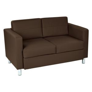 Incredible Pacific Dillon Java Vinyl Fabric Loveseat Caraccident5 Cool Chair Designs And Ideas Caraccident5Info
