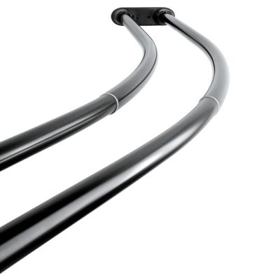 Vintage 60 in. to 72 in. Double Curved Shower Curtain Rod in Black