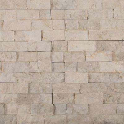Tiara Beige Splitface Ledger Panel 6 in. x 24 in. Natural Limestone Wall Tile (10 cases/80 sq. ft. / Pallet)