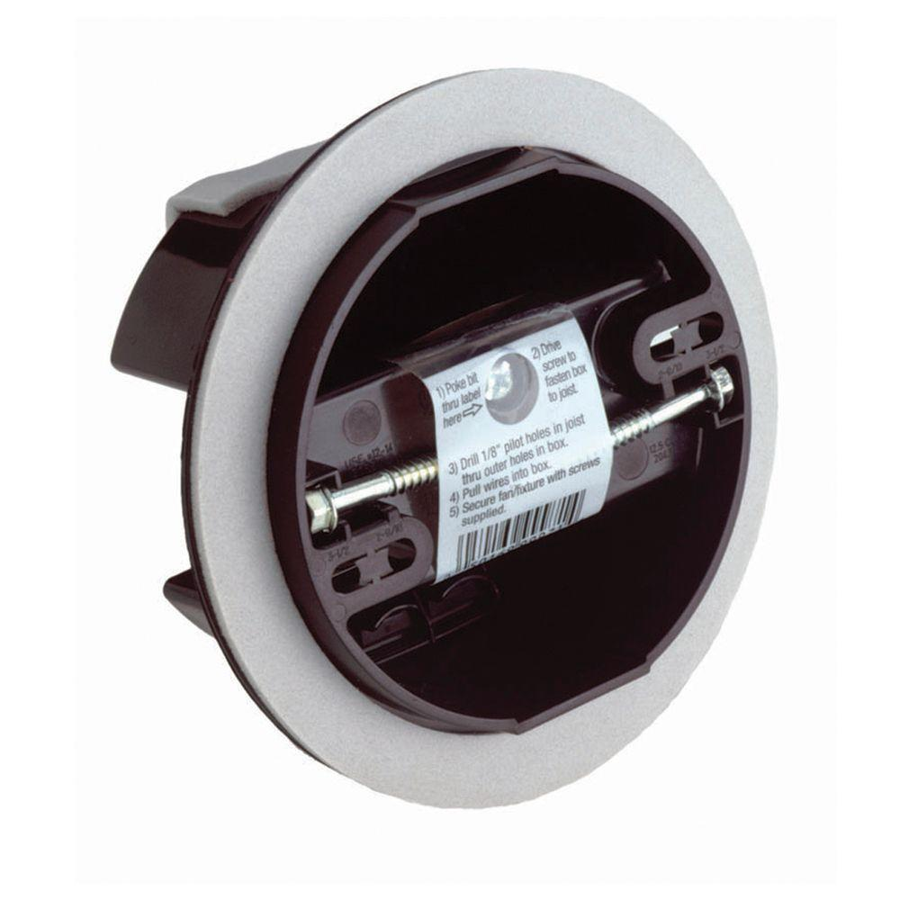 RACO 2-39/64 in. Deep 12 cu. in. 4 in. Round Non-Metallic Vapor Barrier Ceiling Box (24-Pack)