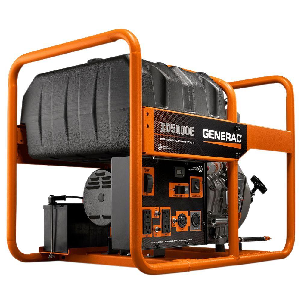 Generac XD 5,000-Watt Diesel Powered Electric Start Porta...