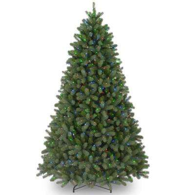 12 ft. Feel-Real Downswept Douglas Fir Artificial Christmas Tree with 1200 Multi-Color Lights
