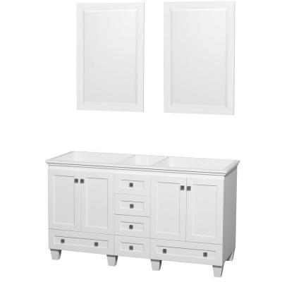Acclaim 60 in. Double Vanity Cabinet with 2 Mirrors in White