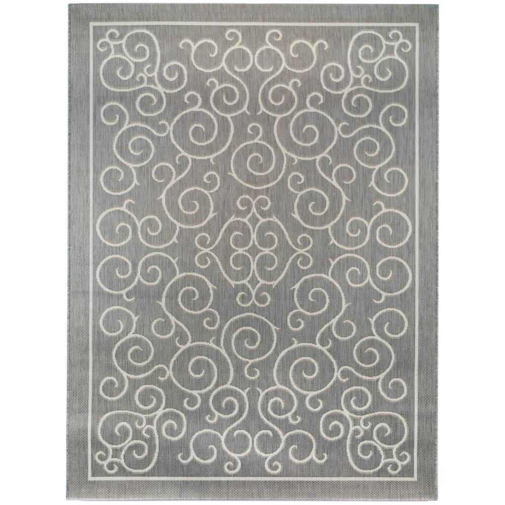 Scroll Slate Grey 5 ft. x 7 ft. Indoor/Outdoor Area Rug