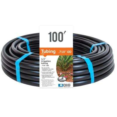 1/2 in. (0.710 O.D.) x 100 ft. Poly Drip Irrigation Tubing