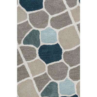 Valintino Multicolor Abstract Hand Tufted Wool 9 ft. x 12 ft. Area Rug