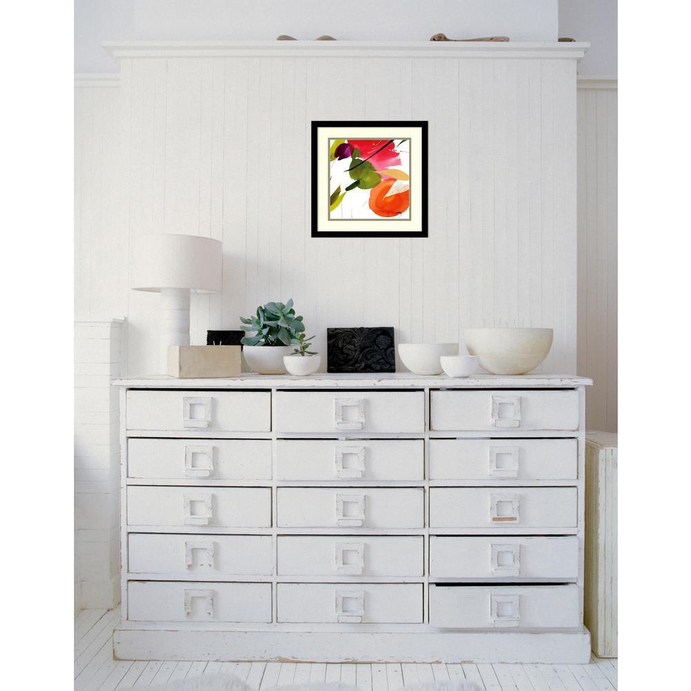 "17 in. W x 17 in. H ""Subtlety II (Floral)"" by Lola Abellan Framed Art Print"