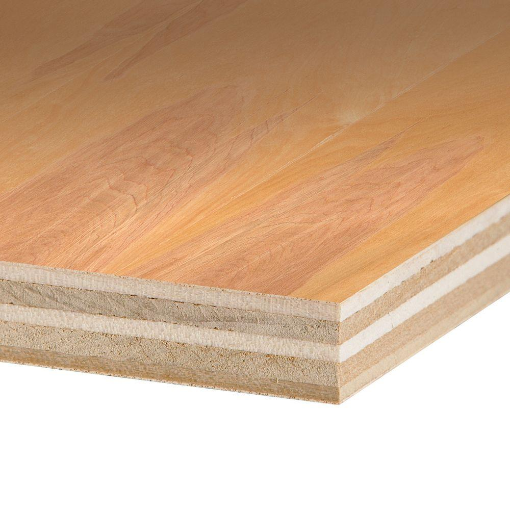 Columbia Forest Products 3/4 in  x 4 ft  x 8 ft  PureBond Birch Plywood