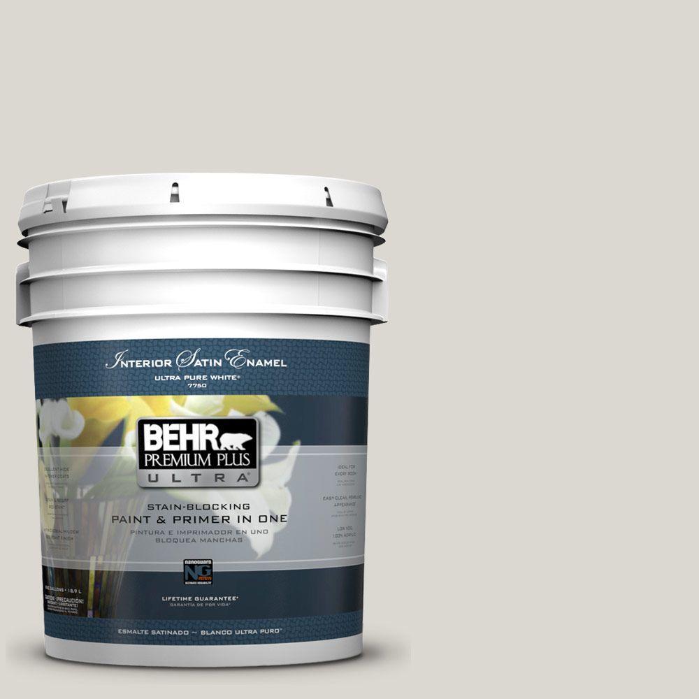 5-gal. #790C-2 Silver Drop Satin Enamel Interior Paint