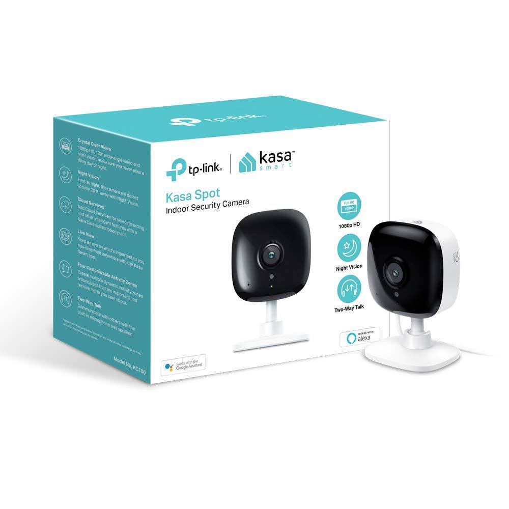 TP-Link TP-LINK Kasa Spot Wi-Fi Indoor Security Camera No Hub Required Works with Alexa and Google Assistants