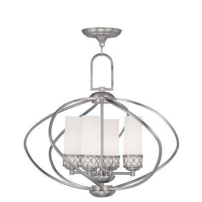 Providence 4-Light Brushed Nickel Incandescent Ceiling Chandelier
