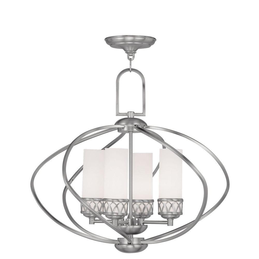 Providence 4-Light Brushed Nickel Incandescent Ceiling Chandelier