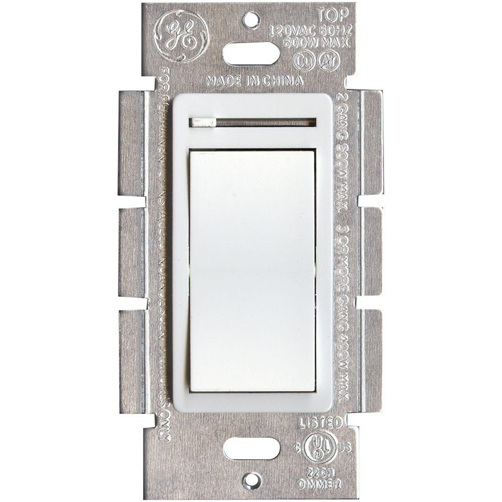 GE 3-Way Rocker/Slide Dimmer