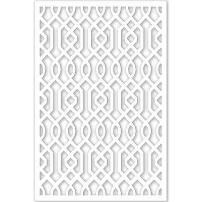 1/4 in. x 32 in. x 4 ft. White Vinyl Azzaria Decor Panel