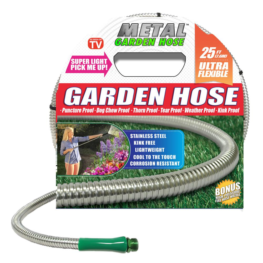 easy flexible garden hose home depot. Stainless Steel Metal Garden Hose Deluxe 3 8 in  x 25 ft 00370
