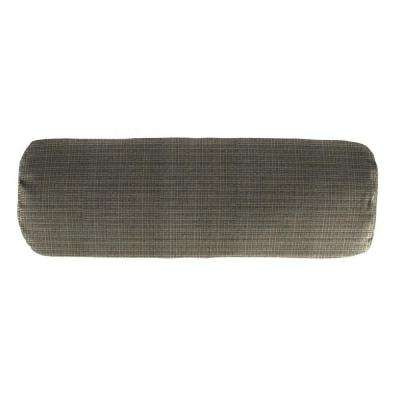 Sunbrella 7 in. x 20 in. Surge Charcoal Bolster Outdoor Pillow