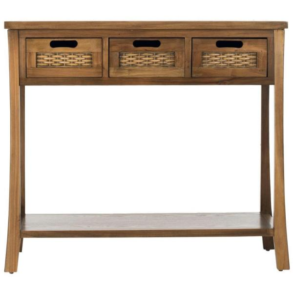 Autumn Oak Storage Console Table