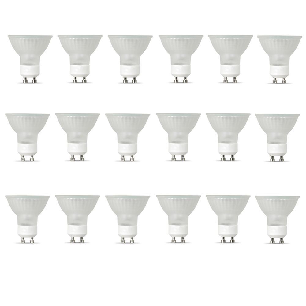 50-Watt Bright White (3000K) MR16 GU10 Bi-Pin Base Dimmable Halogen Light Bulb (18-Pack)