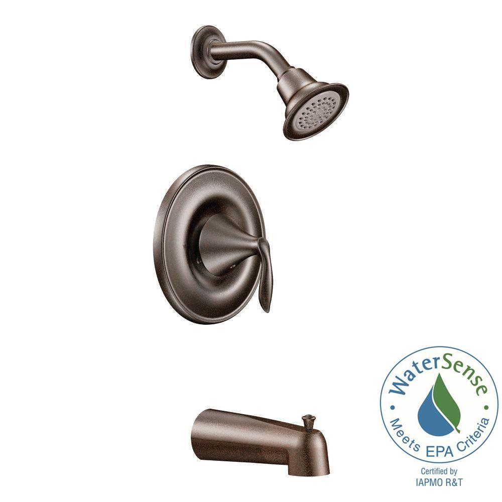 Eva 1-Handle Tub and Shower Trim Kit in Oil Rubbed Bronze