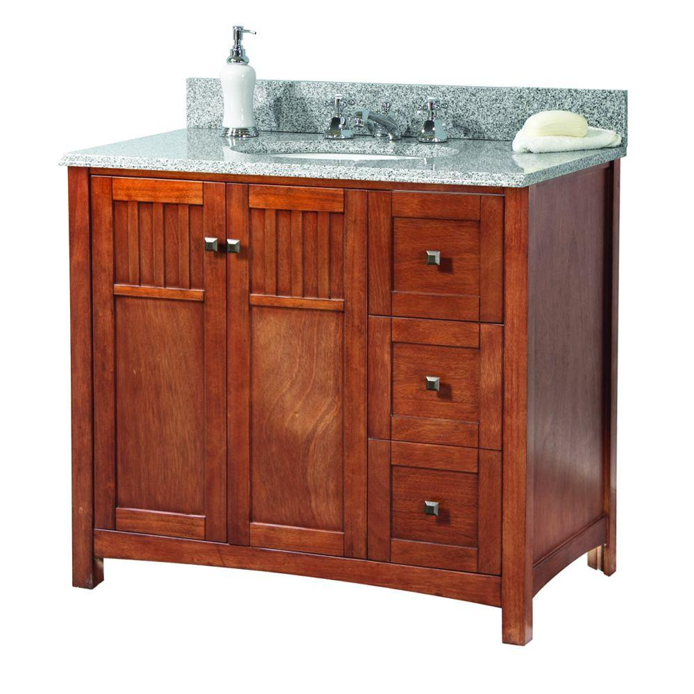 Foremost knoxville 37 in w x 22 in d vanity in nutmeg - Foremost bathroom vanity reviews ...