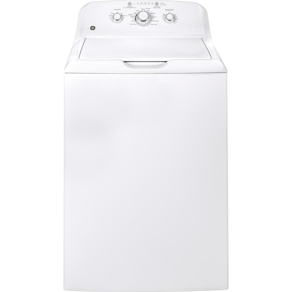 3.8 cu. ft. White Top Load Washing Machine with Stainless Steel