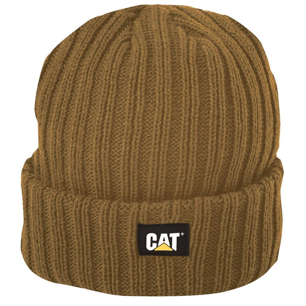2266e600915 Caterpillar Rib Watch Men s One Size Bronze Acrylic Knit Cap Beanie ...