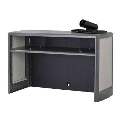 30 in. Platinum/Graphite Metal Space Saver