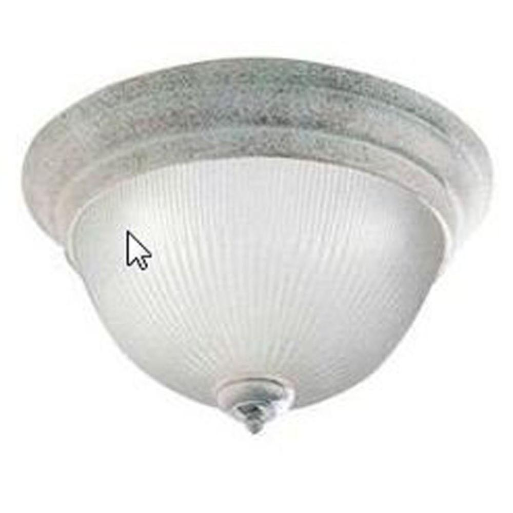 Lenor 1-Light Platinum Rust Incandescent Ceiling Flush Mount