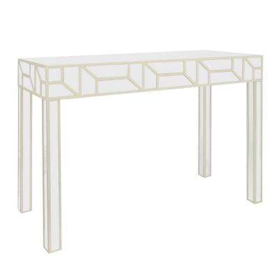 31.5 in. Champagne Wood Console Table