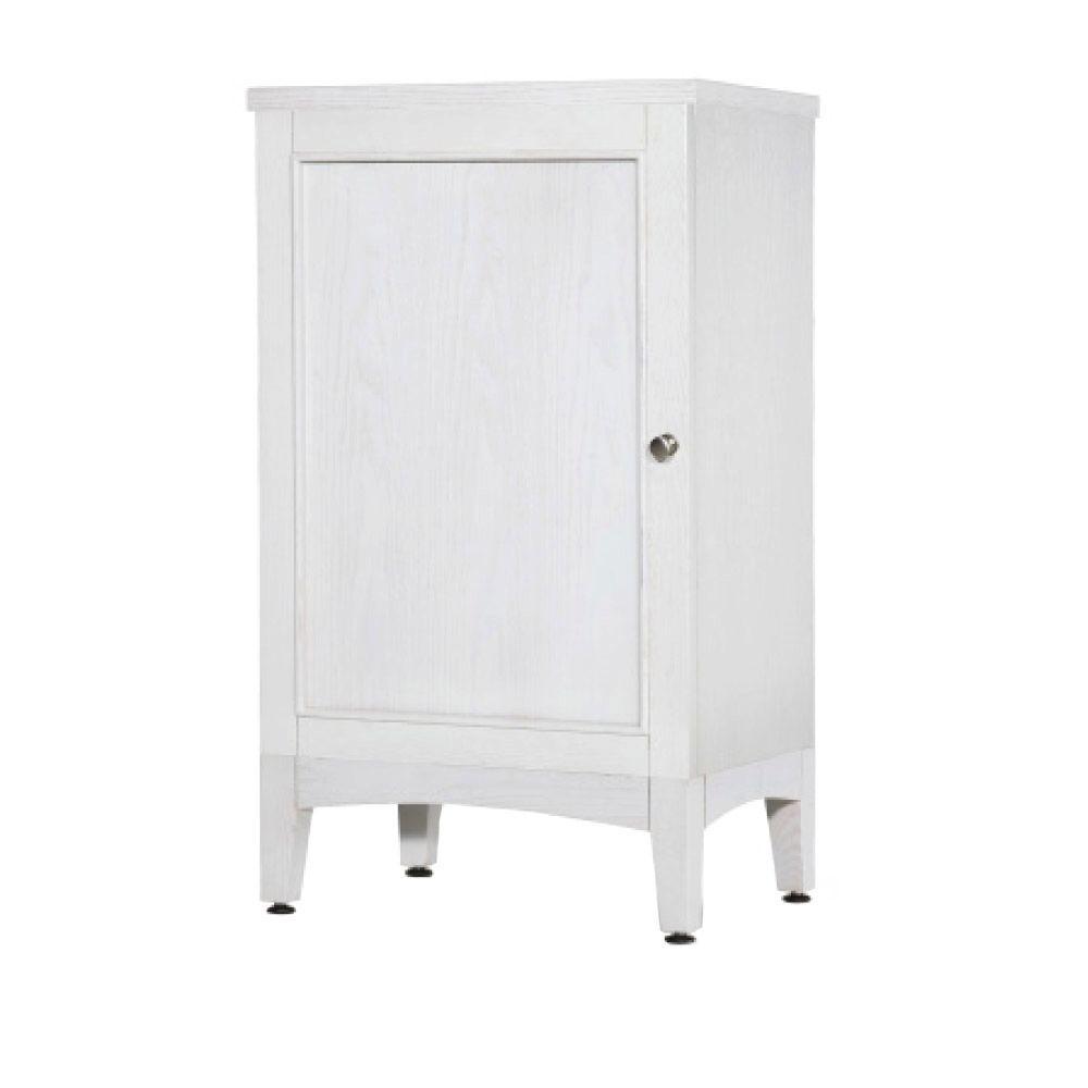 Kent 19 in. W x 33 in. H x 14 in. D Bathroom Linen Storage Cabinet in Whitewash