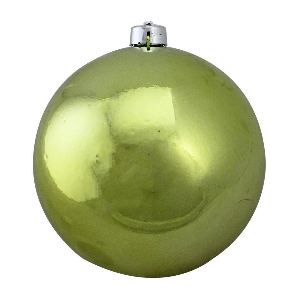 Northlight Shatterproof Shiny Green Kiwi Uv Resistant Commercial Christmas Ball Ornament