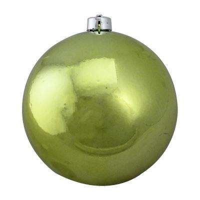 Shatterproof Shiny Green Kiwi UV Resistant Commercial Christmas Ball Ornament