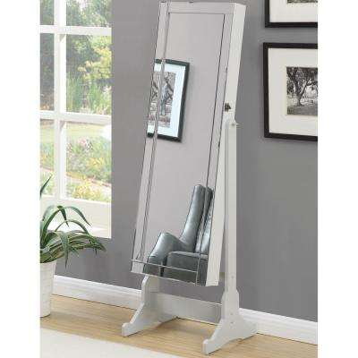 Ella Dove Gray Jewelry Armoire