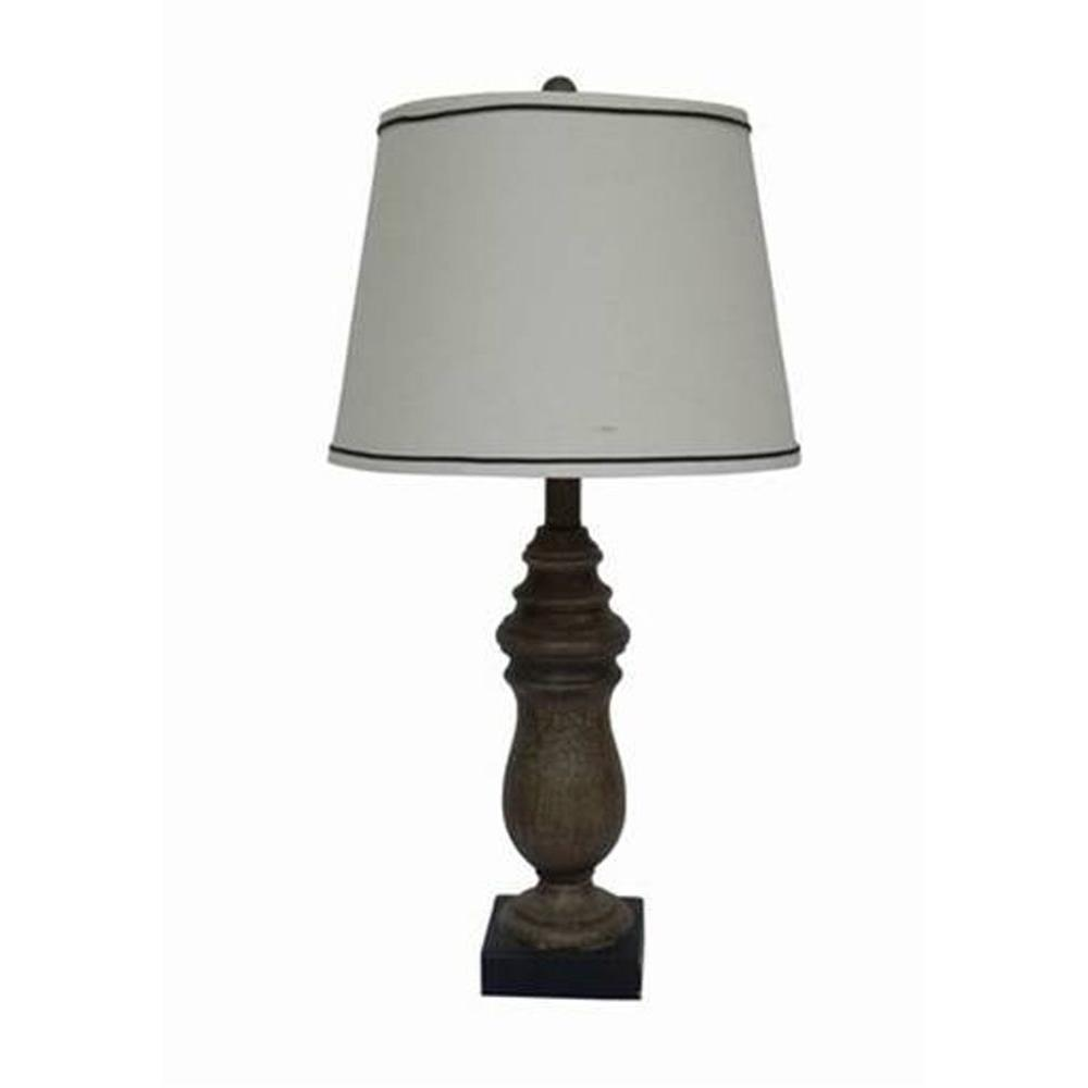 Fangio Lighting 26 in. Beige Resin Table Lamp