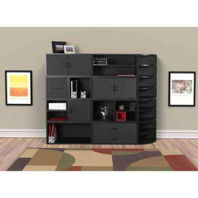 30 in. Black Large Open Cube