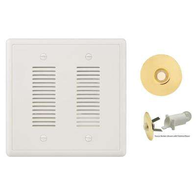 Prime Chime Wired Door Bell Kit with Polished Brass Button