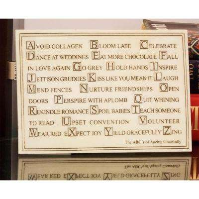 ABC's of Ageing Gracefully Plaque