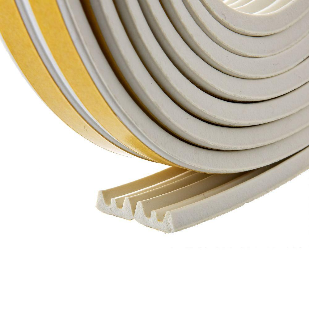Frost King E/O 3/8 in. x 17 ft. White Ribbed EPDM Cellular Rubber Weather-Seal Tape