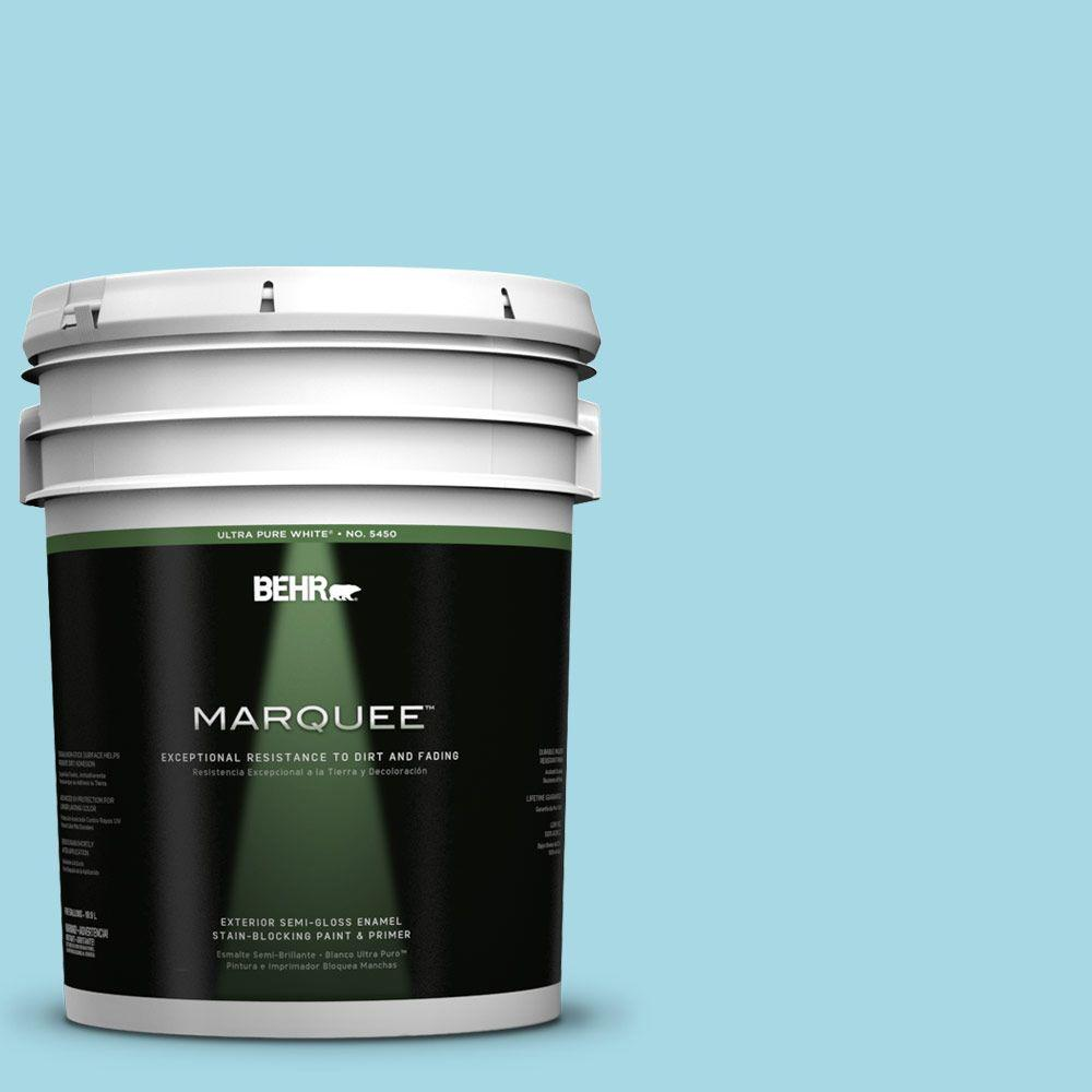 BEHR MARQUEE 5-gal. #530C-3 Winsome Hue Semi-Gloss Enamel Exterior Paint