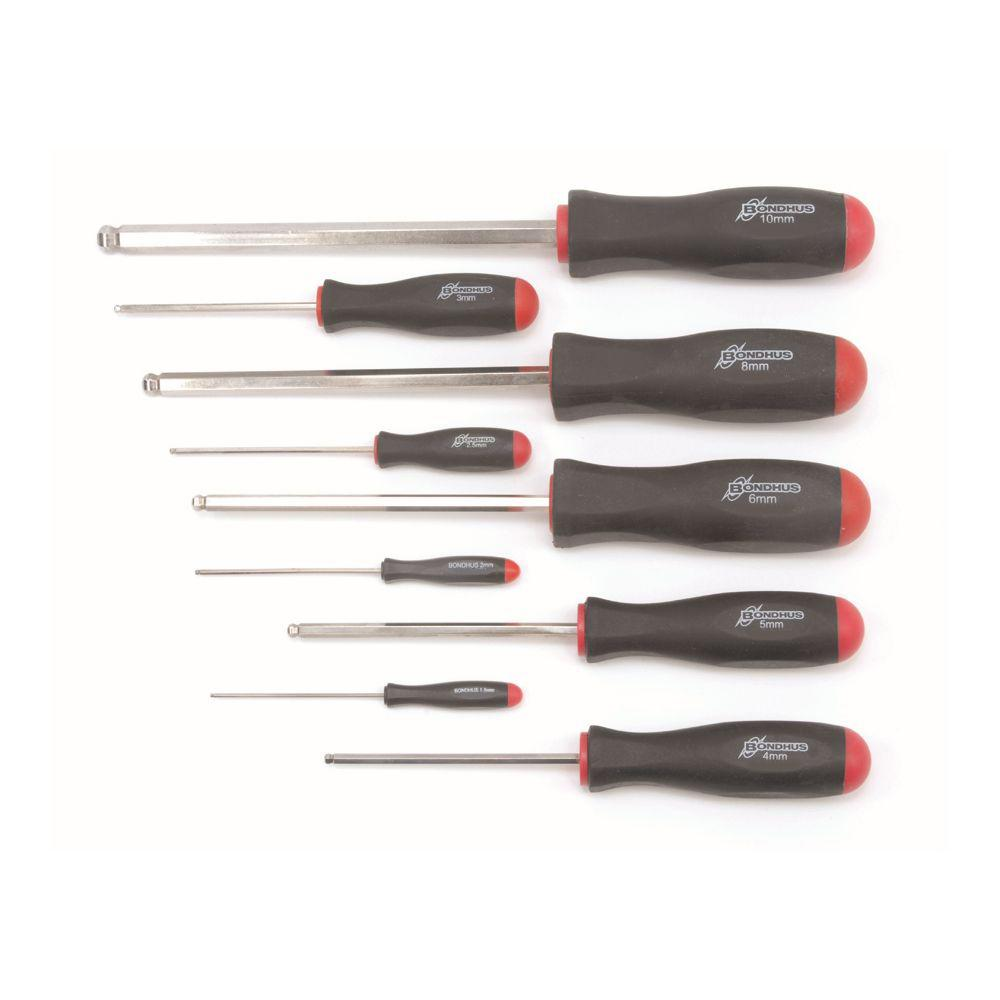 Bondhus Metric Ball End Screwdriver Set with BriteGuard (9-Piece)