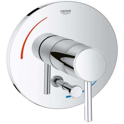 Concetto Soft 1-Handle Tub and Shower Valve Only Trim Kit in StarLight Chrome (Valve Sold Separately)