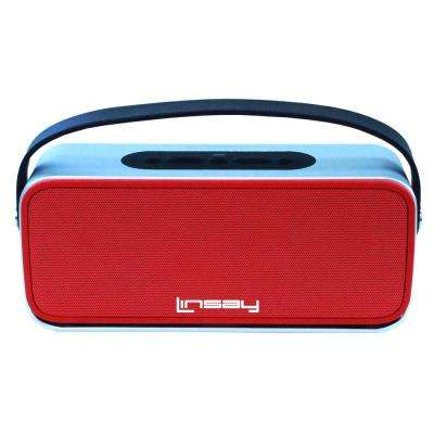 High End Bluetooth Stereo Speaker, Red