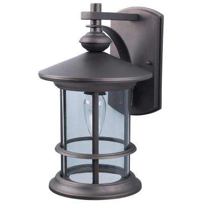 Treehouse 1-Light Oil Rubbed Bronze Outdoor Wall Mount Lantern