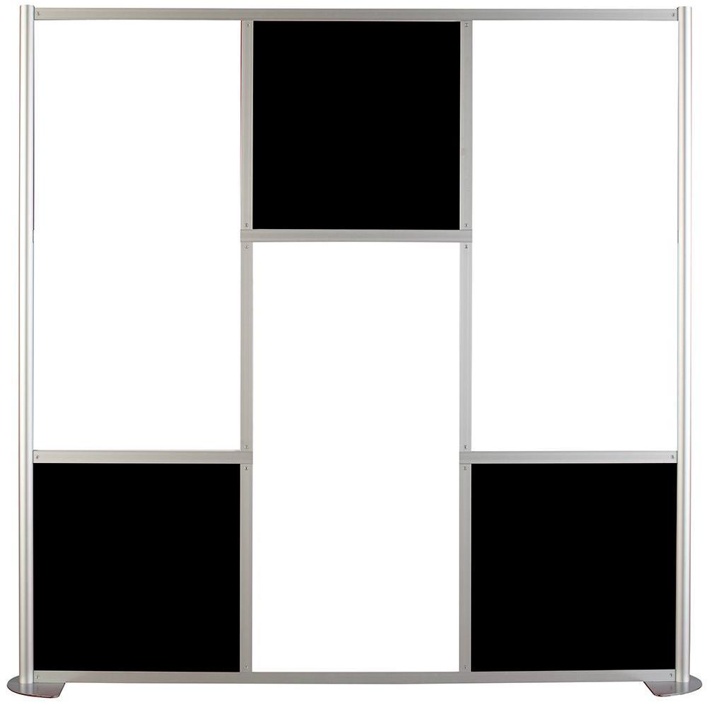 75-5/8 in. x 75-3/8 in. uDivide White and Black 6-Panel Room Divider