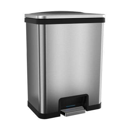 TapCan 13 Gal. Step Pedal Sensor Trash Can (Blank Trim)