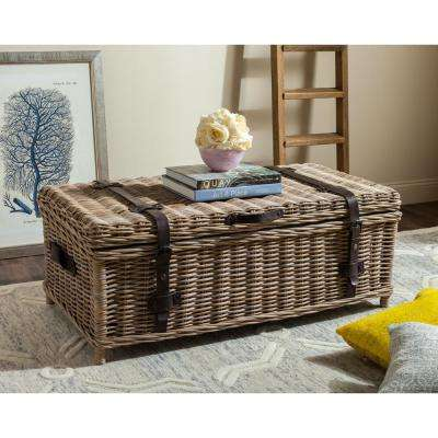 Navarro Rattan Gray Coffee Table Trunk