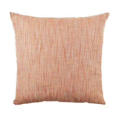 18 in. x 18 in. Bold and Electric Orange Pillow