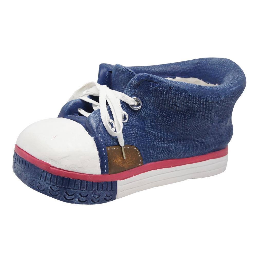 Blue Sneaker Fiberglass Planter